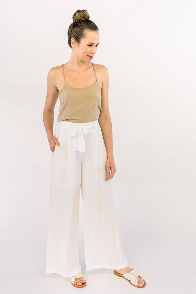 Arabella White Pants with pockets