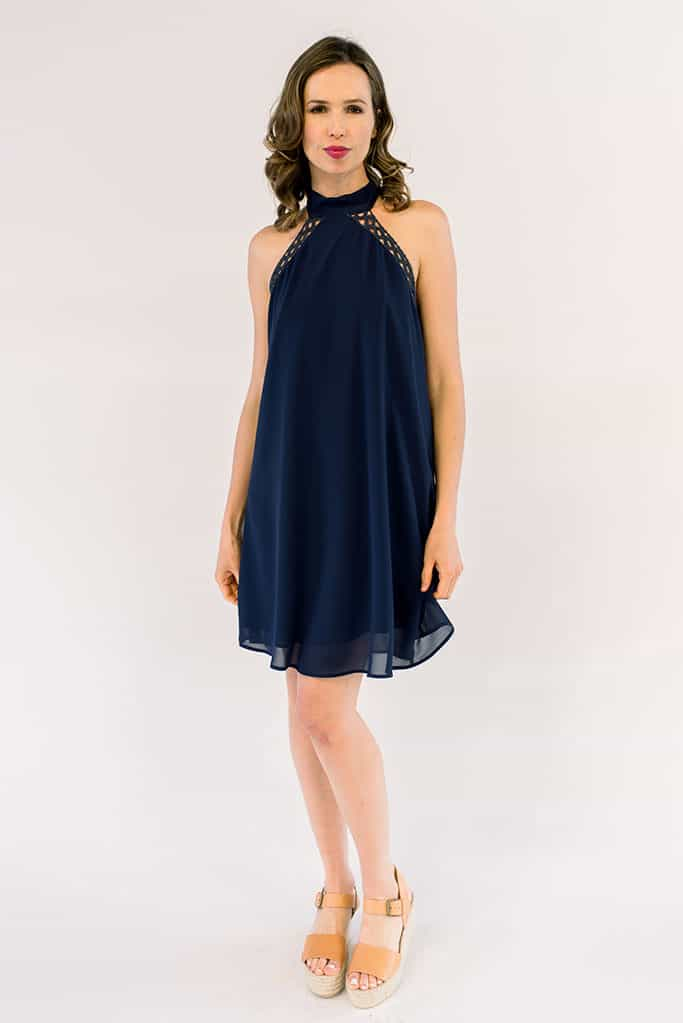 Charlotte Navy Halter Dress