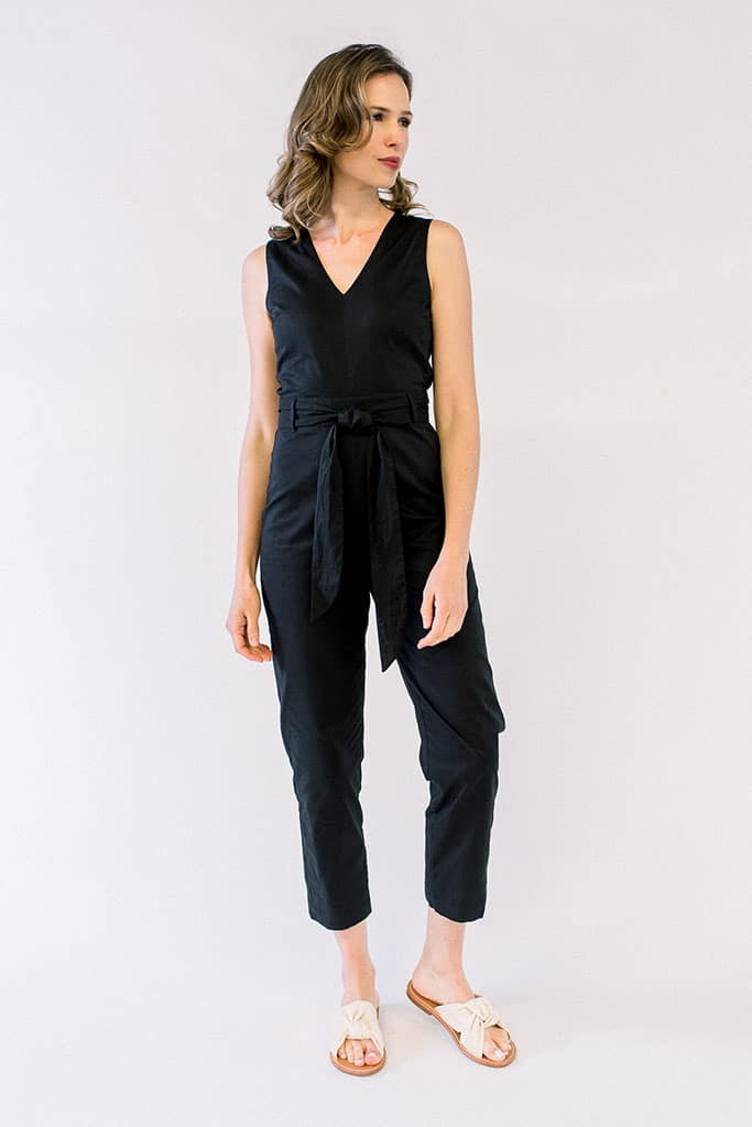 London Jumpsuit Striped Black
