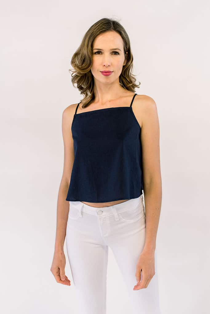 Hazel Navy Crop
