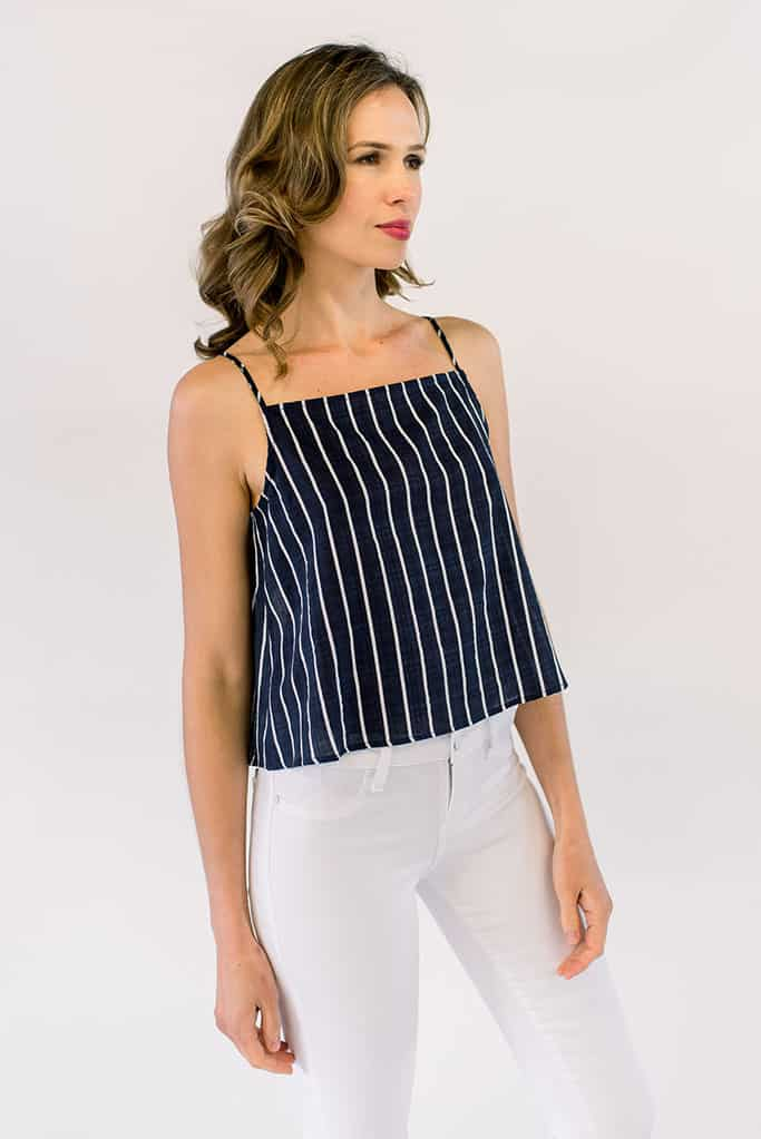 Hazel Striped Crop Top