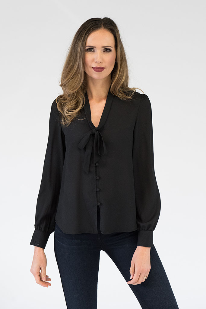 Evelyn Black Blouse