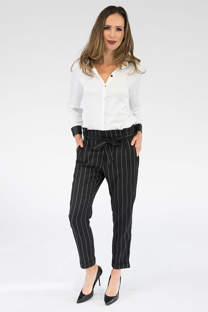Blair Striped Waist Tie Pant