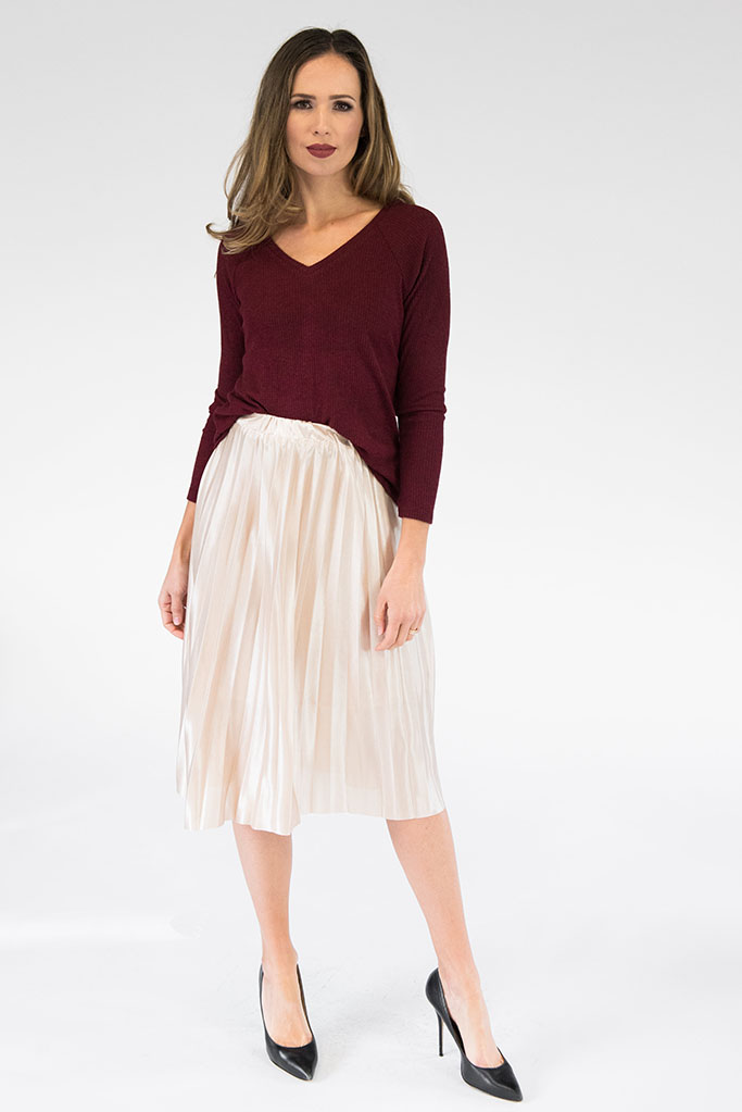 Alice Gold Pleated Skirt